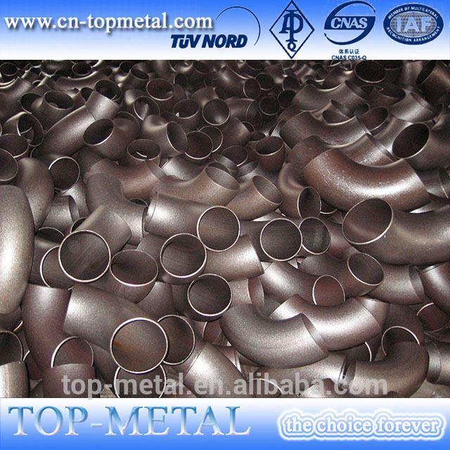 6 inch diameter 60 degree carbon steel pipe elbow
