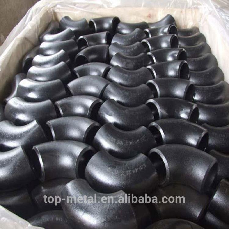 6 SCH40 कार्बन स्टील पाइप कोहनी