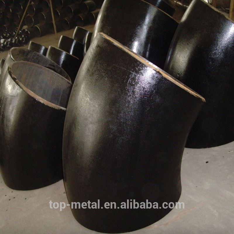 ansi b16.9 A234 pozinkovaná uhlíková oceľ koleno