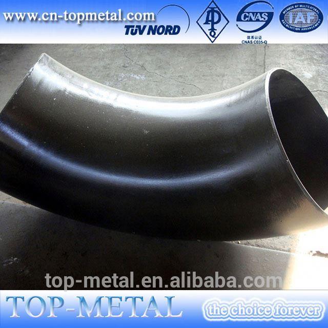 ASME B16.9 / DIN / PEC / lr en cotovelo de 90 graus tubo de aço carbono padrão
