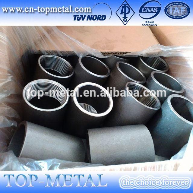 काला 400mm npt धागा कार्बन स्टील पाइप सॉकेट