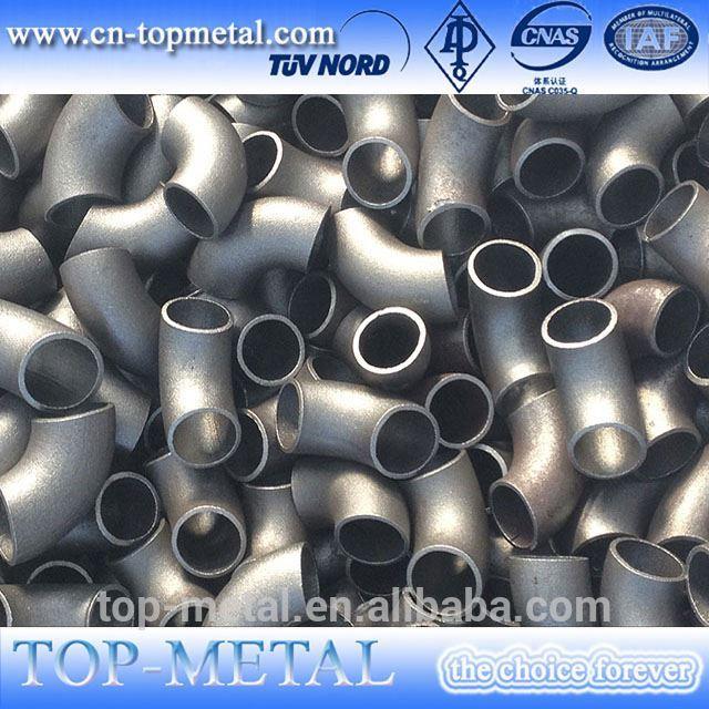 din2605 धातूंचे मिश्रण स्टील 4 इंच l / आर 45 अंश एकसंधी कोपर