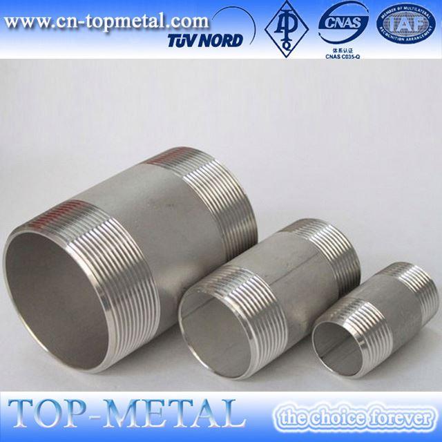 टिकाऊ 3000lb 304 316 स्टेनलेस स्टील लड़ी नली निपल फिटिंग