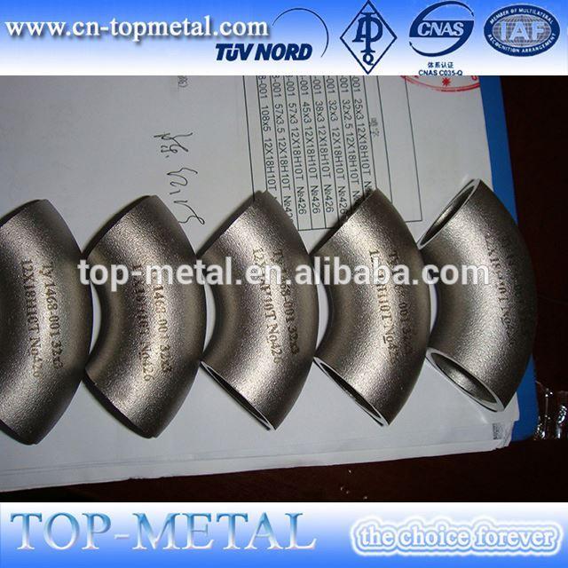 rimligt pris rostfritt stål armbåge 90 grader