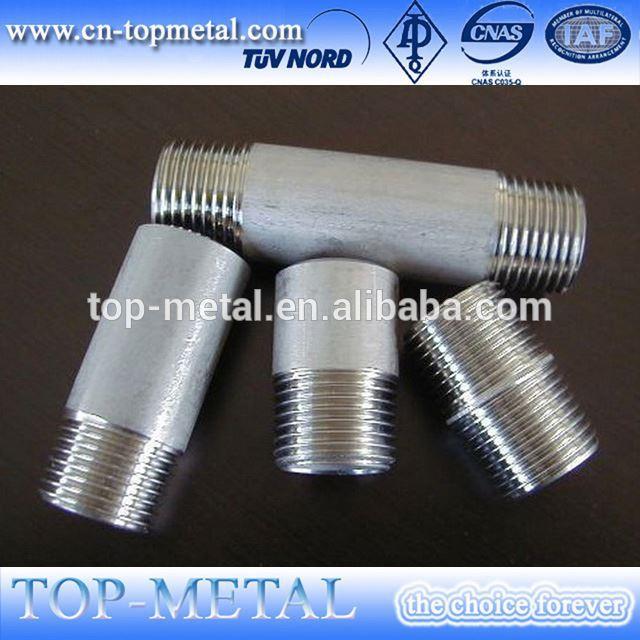stainless steel both end female thread nipple
