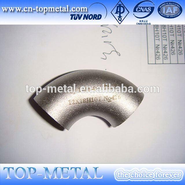 rustfrit stål 150mm diameter albue