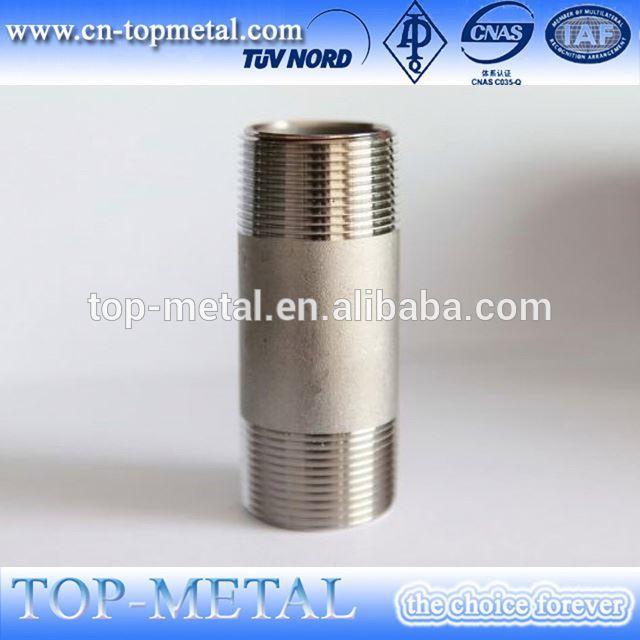 stainless steel male npt to bsp thread nipple